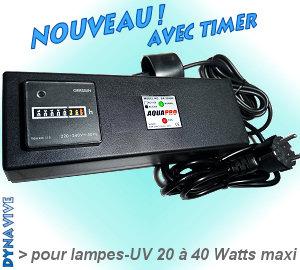 Voir la Fiche Produit Réf-UV-2040BA-TIMER