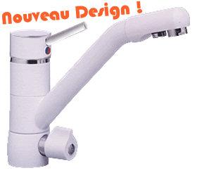 Dynavive Accessoires Osmose Robinet Mitigeur 3 Voies Design Blanc