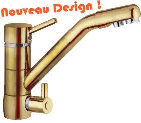 DYNAVIVE Accessoires Osmose - Robinet Mitigeur 3-voies ...